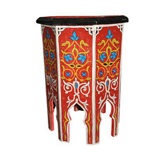 Moroccan Octagonal Hand Painted Accent Table Moorish Design Furniture