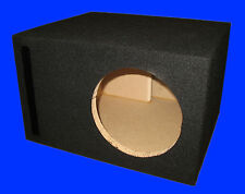 "8"" SINGLE 1.0 Cu.Ft. PORTED 3/4 MDF BLACK SUBWOOFER SUB SPEAKER ENCLOSURE BOX"