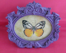 VIBRANT PURPLE FRENCH SHABBY CHIC BOUDOIR ROCOCO PHOTO FRAME WALL & STANDING