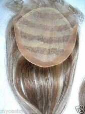 """7x7 Full Lace Silk Top Closure Indian Remy Remi Human Hair Partial Wig 18"""""""