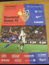 09/12/2007 Basel v Neuchatel Xamax  . Item in very good condition, unless stated