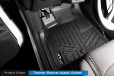 MAXFLOORMAT All Weather Custom Fit Floor Mats Liner (3 Row) Set for SUV (Black)