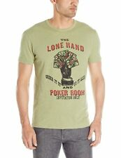 Lucky Brand - NWT - Mens M - Green Lone Hand Poker Room Cotton Graphic T-Shirt