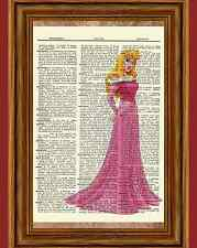 Aurora Dictionary Art Print Poster Picture Disney Princess Sleeping Beauty