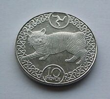 Isle of Man Manx Cat 10p Coin émis Avril 2017 neuf à partir de TOWER Comme neuf (en main)
