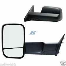 2009, 2010, 2011, 2012 DODGE RAM 1500 FLIP-OUT HEAD MANUAL TOWING MIRROR (PAIR)