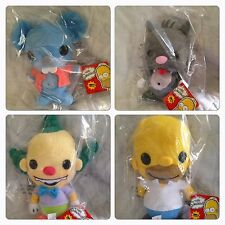 Funko Plushies: Simpsons HOMER, KRUSTY, ITCHY & SCRATCHY Plush New w/ Tags