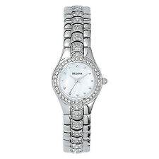Bulova Women's 96T14 Swarovski Crystals Stainless Steel Dress Watch