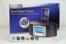 Homedics SoundSpa Fusion Alarm Clock Radio with iPod iPhone Dock Docking Station