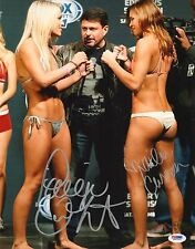 Paige VanZant & Kailin Curran Signed UFC 11x14 Photo PSA/DNA COA Auto'd Picture