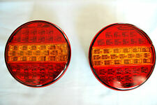 PAIR 24V LED TAIL LIGHTS HAMBURGER REAR LAMPS FOR TRUCK TRAILER DAF MAN MERCEDES