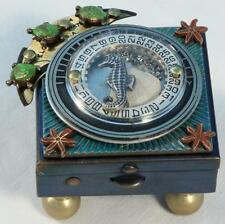 Miniature Footed Wish Box- Seahorse & Turtles- FREE SHIPPING