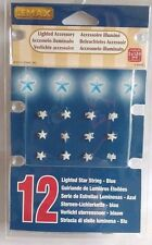 Lemax 12 Blue Lighted Star String Model Railways Village War Games