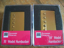 Seymour Duncan SH-4 JB and SH-1n 59 Model Neck Humbucker Pickup Set GOLD COVERS
