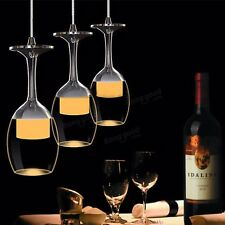 Modern Bar Lighting Wine Glass Ceiling Light Chandelier Lamp Fixture Pendant LED