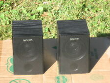 A Pair of Soney 6 ohm Full-Range Surround Sound  Speaker Systems In Good Cond!