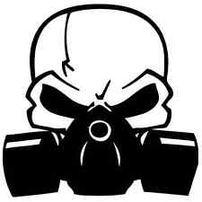 "Skull with Gas Mask Vinyl Decal ""Sticker"" For Car or Truck Windows, Laptops, etc"