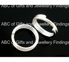 Silver Plated Double Loops Open Jump Rings 4mm Dia.( 200 pcs)
