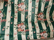 WAVERLY/F. SCHUMACHER FLORA STRIPE IVY LANE FABRIC GREEN/WHITE STRIPED 14 yards