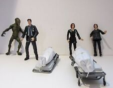 6x X-files Mcfarlane Figuras de acción, Mulder, Scully, Alien, cadáver