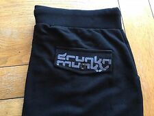 Men's BNWT BLACK DRUNKNMUNKY button thru flap back pocket pants, XXL,