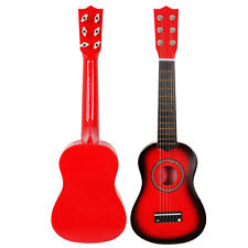 "21"" 6 String Beginners Practice Acoustic Guitar Musical Instruments Kids Red"