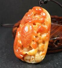 Certified Red Natural A Jade jadeite Pendant Frog centipede scorpion 五毒 409026