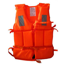 Adult Life Jacket Fishing Boating Swimming Safety Vest Foam Flotation Universal
