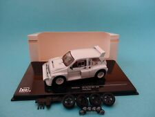MG AUSTIN METRO 6R4 - RALLY SPECS - TEST CAR WHITE - 1/43 NEW IXO MDCS015