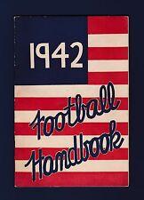 1942 Lansing & East Lansing &  Michigan State Football Hanbook Guide