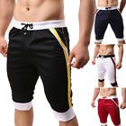 Men's Knee Casual Sportwear Shorts Jogger Sport Gym Rope Pants Trousers Slim Fit
