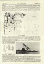1914 Gio Ansaldo Pneumatic Tool Carriers Jetty Floating Crane