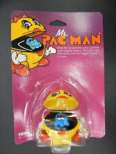 1982 vintage TOMY windup MS PAC MAN wind up toy MOC mip RARE cute Bally Midway !