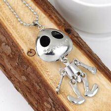 New Alien Big Eye ET Skull Mouster Skeleton Head UFO Chain Pendant Necklace EA