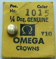 Omega 1015 T10 Crown yellow 5 mm genuine vintage Wrist Watch Part T7