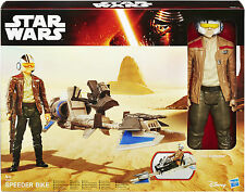 Star Wars Speeder Bike Con Poe Dameron Figura b3918 * Nuevo Y Sellado *