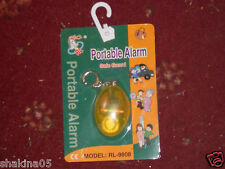 New..Safe Guard Portable Alarm..Plus Free Smiley Face Key Ring