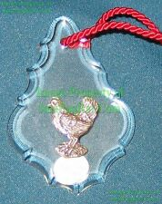 Reed Barton Sterling Silver Crystal 3 French Hens 12 Days of Christmas Ornament