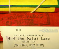 DALAI LAMA   GLASGOW  2004  PUBLIC TALK  TICKETS X 6   WITH  FREE PRAYER  FLAGS