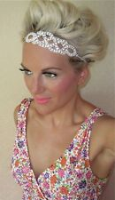 Silver diamond strass twist hair head band mariée bridal tiara Choochie choo