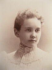 Antique Cabinet Card Photo of May G. Martin by Horton Bros from Providence, R.I.