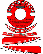 "Vintage antique WATERWITCH OUTBOARD MOTOR Decals 4"" Flywheel"