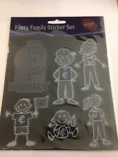 NEW Official Licensed AFL Carlton Blues Family Car/Decal Sticker Set 6 Stickers