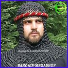 Chain Mail Coif Butted Standard Size Black Chainmail Coif Costume