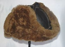 NEW Hand made mens Sheepskin Russian Shearling Russian Bomber  Hat Real Leather