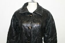 Maxam Brand Woman's Genuine Leather Jacket Italian Mosaic Design Sz Large Biker