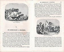 28 Rambouillet à Chartres 1860 guide (17 p.) + 9 xylogr. orig. Maintenon Hanches