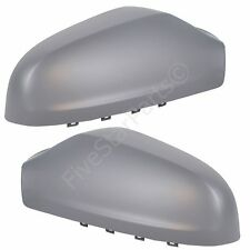 PAIR L+R WING DOOR PRIMED MIRROR COVER FOR VAUXHALL ASTRA H - DRIVER & PASSENGER