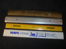 Lot Of Rulers Navy, Bethlehem Steel USA, Universal Drafting Machine Co, Etc