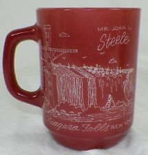 UNIQUE ETCHED 1981 AFRES NIAGRA FALLS SECURITY POLICE CONFRENCE ON AH MUG